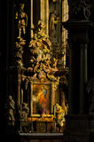 Paintings and sculptures inside dominican church in Vienna Royalty Free Stock Photography