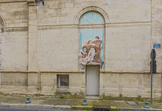 Paintings on the side wall in  Opera Theatre in Avignon Royalty Free Stock Photo