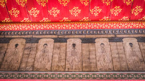 Paintings from temple Wat Pho teach Acupuncture and fareast medicine. Stock Photos