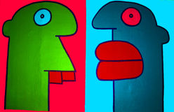 Paintings by Thierry Noir Stock Image