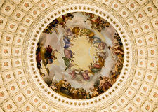 Paintings US Capitol Rotunda Royalty Free Stock Photography