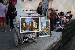 Paintings of Venice, Italy royalty free stock image