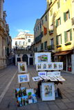 Paintings at Venice street,Italy Royalty Free Stock Photo
