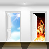 Doors to heaven and hell Stock Images
