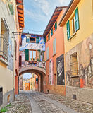 Paintings on the walls in Dozza, Italy Stock Photo