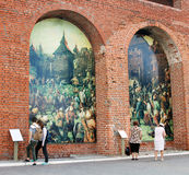 Paintings on the walls. Kremlin in Kolomna, Russia. Stock Photography