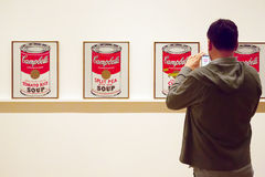 Paintings by Warhol in MoMA of New York Royalty Free Stock Photography