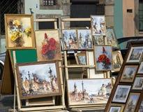 Paintings, Warszawa, Poland Stock Photography