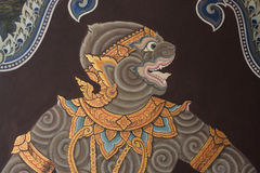Paintings at Wat Phra Kaew Stock Photos