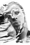 Paintography, malować łączę z portretem afrykanin am Obraz Stock