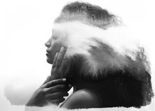 Paintography, photograph combined with ink brushstrokes Stock Photography