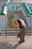 Paintor in Drievuldigheid Sergius Lavra, Sergiev Posad, Rusland Unesco-Wereld Herit Royalty-vrije Stock Foto's