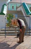 Paintor in trinità Sergius Lavra, Sergiev Posad, Russia Immagini Stock Libere da Diritti