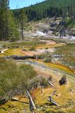Paintpot Hill in Yellowstone, Wyoming Royalty Free Stock Image