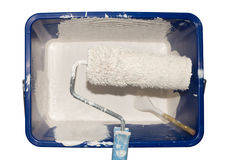 Paintroller in a bucket Royalty Free Stock Photos