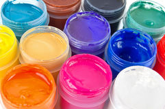 Paints. Group of gouache paints various colors Royalty Free Stock Image