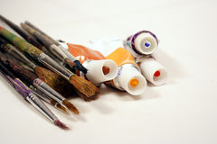 Free Paints And Brushes Stock Image - 1116451