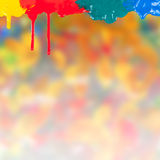 Paints background 17. Abstract paints dripping on colorful background Royalty Free Illustration