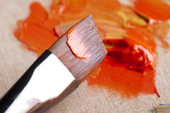 Paints and brush Stock Photo