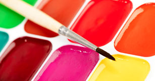 Paints and brush Royalty Free Stock Photo