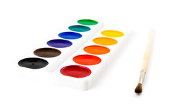 Paints and brushe Royalty Free Stock Photos