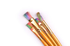Paints and brushes Royalty Free Stock Image