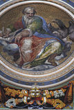 Paints of cupola of St. Peter's Basilica Royalty Free Stock Photo