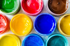 Paints gouache Royalty Free Stock Photography
