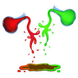 Paints mixing. Royalty Free Stock Photo