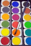 Paints and paintbrush Royalty Free Stock Photography