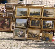Paints on street Royalty Free Stock Image