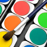 Paints watercolors set Royalty Free Stock Photo