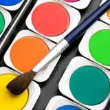 Paints watercolors set Royalty Free Stock Photo