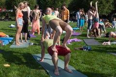 Paio-yoga Fotografia Stock Libera da Diritti