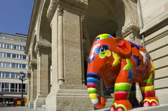 Paiperphant, parada do elefante, cidade de Luxemburgo fotos de stock