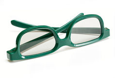 Pair of 3-d glasses for movies cinema Royalty Free Stock Photo