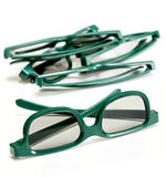 Pair of 3-d glasses for movies cinema Royalty Free Stock Photography