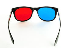 Pair of 3DTV Anaglyph Glasses Royalty Free Stock Images