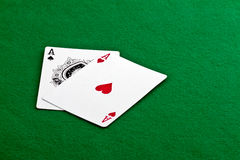 Pair of Aces Stock Images