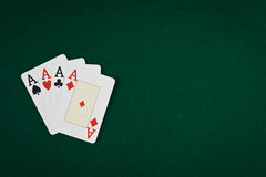 Pair of aces Royalty Free Stock Images