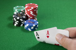 Pair of Aces Royalty Free Stock Photography