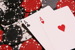 Pair of Aces Stock Image