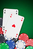 Pocket aces Stock Photography