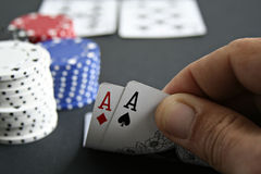 Pair of Aces Down Royalty Free Stock Image