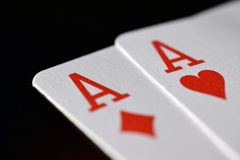 Pair of aces royalty free stock image