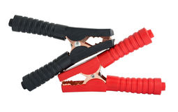 Pair of alligator clamps Stock Photo
