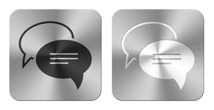 Pair of aluminum chat icon Royalty Free Stock Images