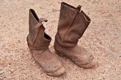 Ancient riding boots. Stock Images