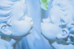 Pair of Angels. A pair of Angels, with love looking at each other Royalty Free Stock Image