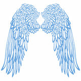 Pair of angels' wings vector illustration